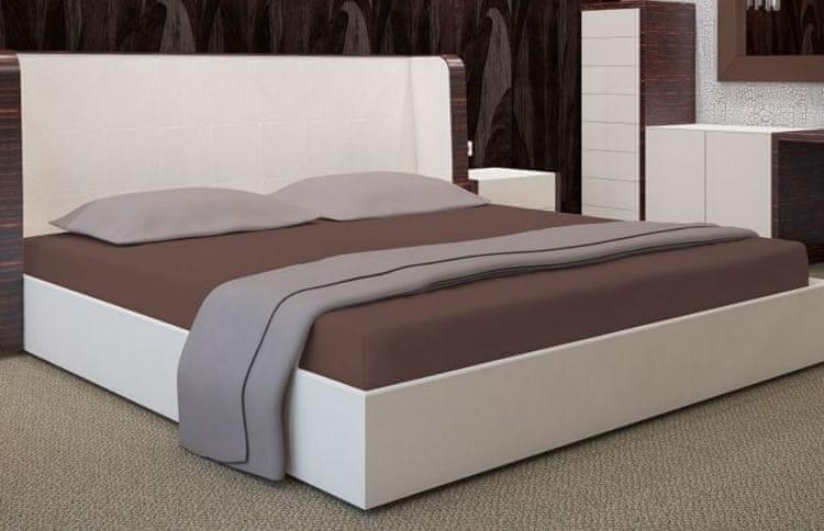 My Best Home Jersey napínací prostěradlo na matraci 140x200 cm hnědá