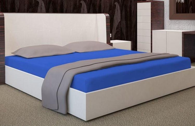 My Best Home Jersey napínací prostěradlo na matraci 140x200 cm modrá