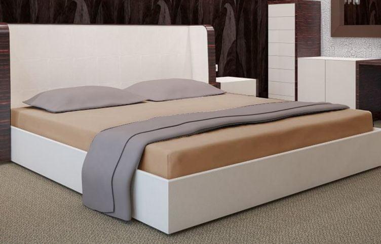 My Best Home Jersey napínací prostěradlo na matraci 200x220 cm cappuccino