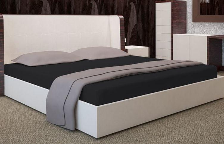 My Best Home Jersey napínací prostěradlo na matraci 200x220 cm černá