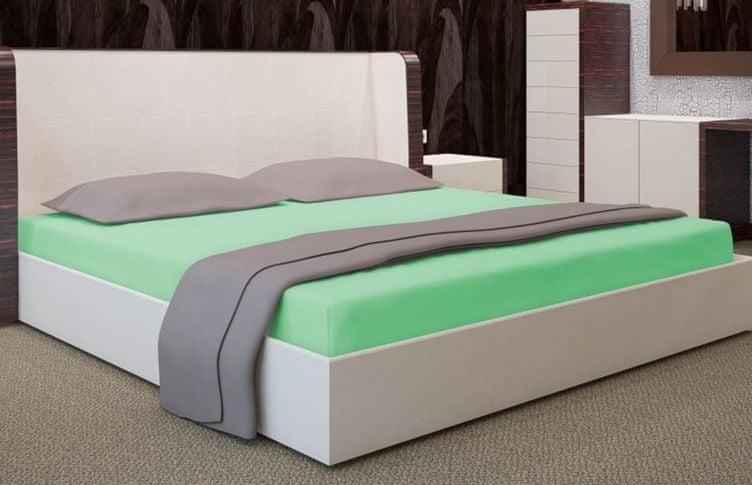 My Best Home Jersey napínací prostěradlo na matraci 140x200 cm zelená