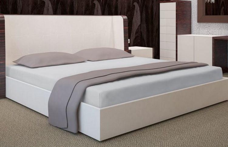 My Best Home Jersey napínací prostěradlo na matraci 200x220 cm světle šedá
