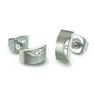 Boccia Titanium Elegantní titanové náušnice s diamanty 05007-02