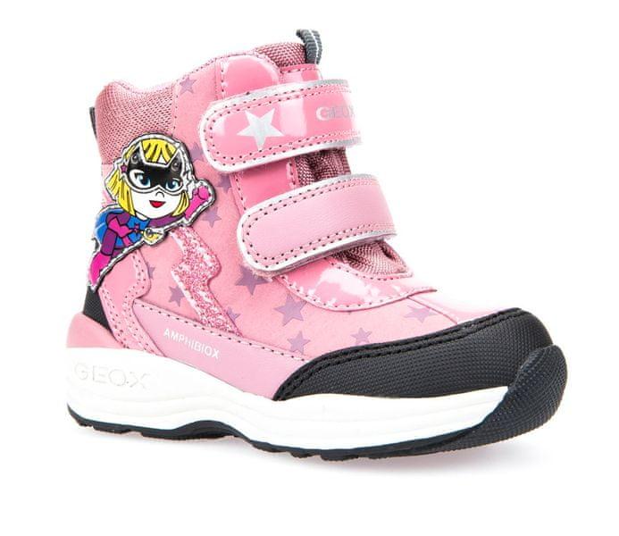 Geox dívčí zimní obuv New Gulp 25 růžová