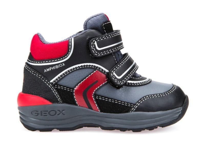 Geox chlapecké kotníčkové tenisky New Gulp 23 černá/červená