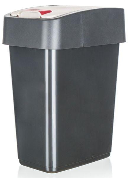 keeeper Koš odpadkový 10 l, 36,5 x 29,5 x 18 cm antracitová