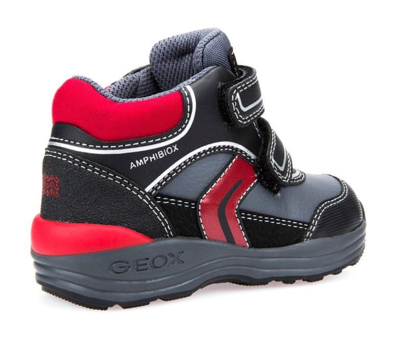 ... 4 - Geox chlapecké kotníčkové tenisky New Gulp 23 černá červená ... 9027a8d6c9