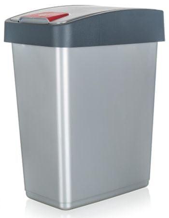 keeeper koš za odpadke, 25 l, 47,5 x 39,5 x 24 cm, srebrn