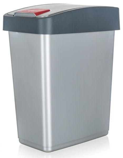 keeeper Koš odpadkový 25 l, 47,5 x 39,5 x 24 cm šedá
