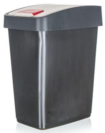 keeeper Koš odpadkový 25 l, 47,5 x 39,5 x 24 cm antracitová