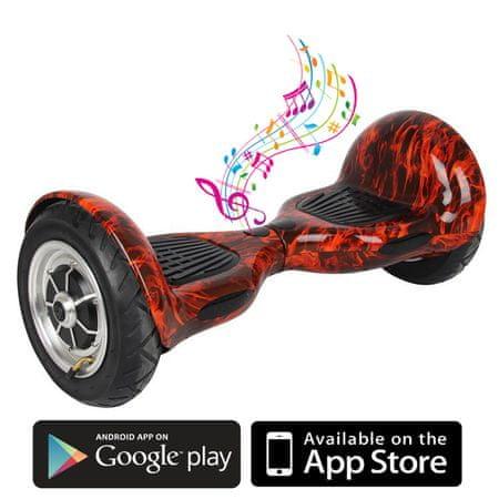 Kolonožka deskorolka elektryczna Offroad z aplikacją mobilną i głośnikiem BT, Fire