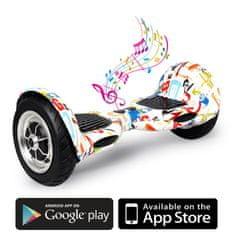 Kolonožka deskorolka elektryczna Offroad z aplikacją mobilną i głośnikiem BT, Crazy