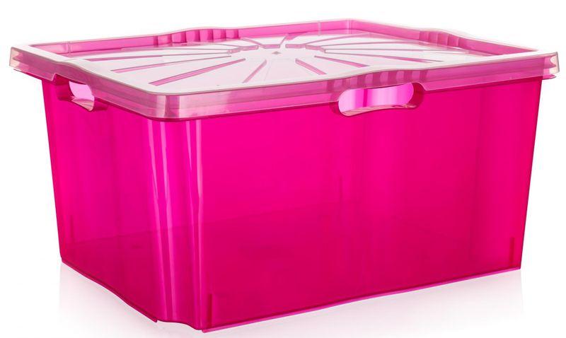 keeeper Multi-box XXL s víkem 52 x 43 cm růžová
