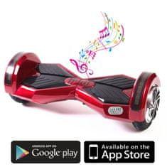 Kolonožka deskorolka elektryczna Premium z aplikacją mobilną i głośnikiem BT, czerwona
