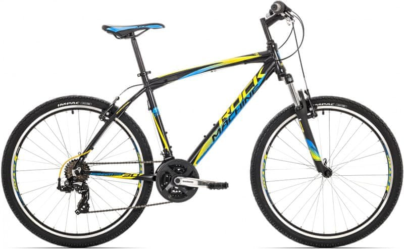 "Rock Machine 26"" Manhattan 30 21"" black/yellow/blue"