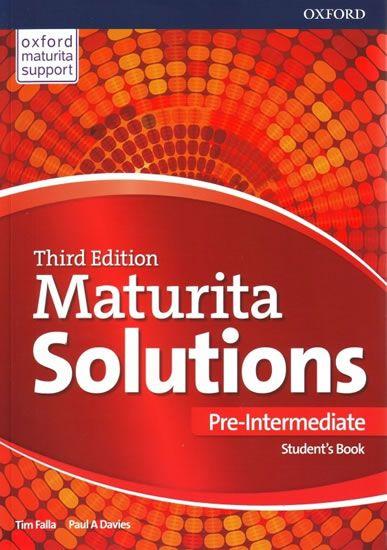 Falla Tim, Davies Paul A.: Maturita Solutions 3rd Edition Pre-Intermediate Student's Book Czech Edit