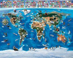 Walltastic Fototapeta Mapa světa