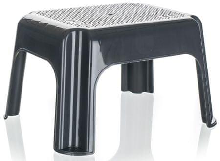 keeeper stołeczek niski 36,5 x 30 x 24 cm, antracytowy