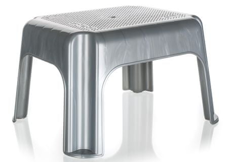 keeeper Stolička nízká 36,5 x 30 x 24 cm šedá