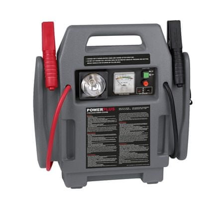 PowerPlus POWE80090 Gyorsindító/bikázó kompresszorral