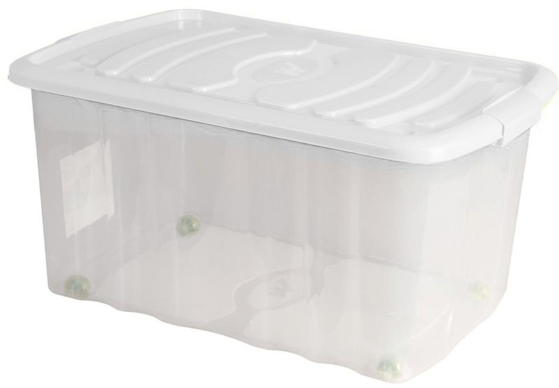 Mazzei Úložný box na kolečkách ROLL - 45 litrů bílá
