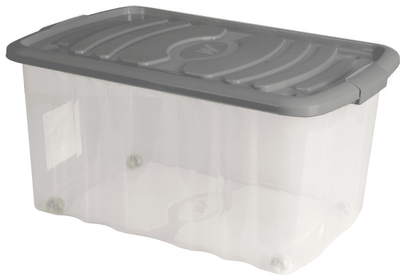 Mazzei Úložný box na kolečkách ROLL - 45 litrů šedý