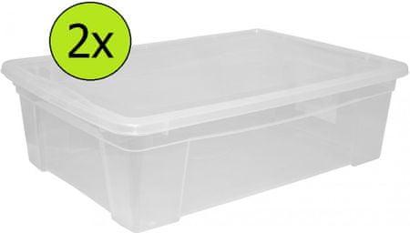 Mazzei Úložný box Space 2 - 5,7 l, set 2 ks