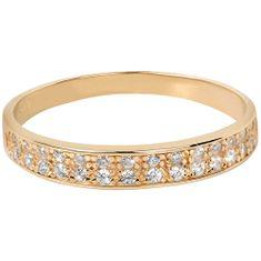 Brilio Prsten ze žlutého zlata s krystaly 229 001 00670 zlato žluté 585/1000