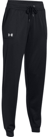 Under Armour Tech Pant Solid Black Metallic Silver S