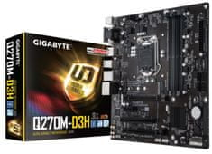 Gigabyte matična plošča GA-Q270M-D3H, DDR4, SATA3, USB3.1Gen1, DP, LGA1151 mATX