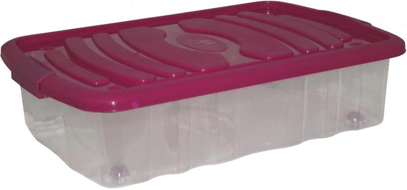 Mazzei Úložný box na kolečkách BED - 31litrů fialová