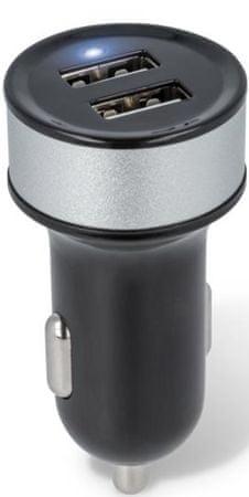Forever ładowarka samochodowa Forever, 2 x USB, 2 100 mA, czarna