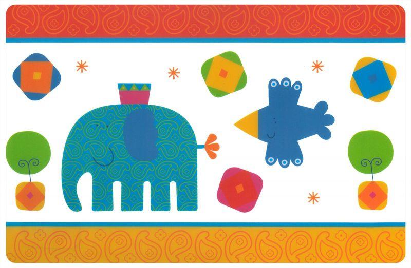 My Best Home Prostírání pro děti AFRIKA 44x28,5 cm, 6 kusů