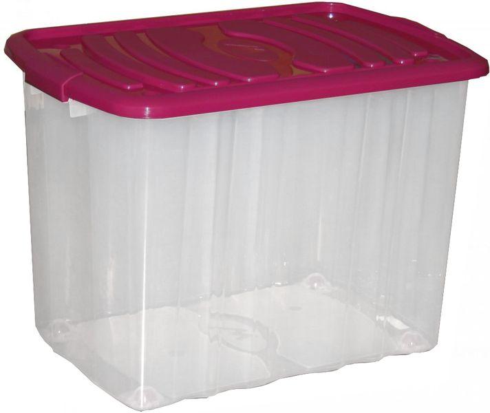 Mazzei Úložný box na kolečkách Big Roll 65 l fialová