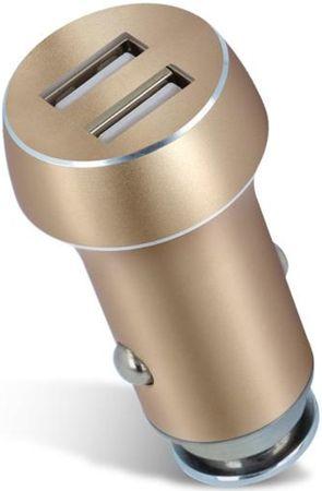 Forever Ładowarka samochodowa Forever, 2 x USB, 3 100 mA, złota