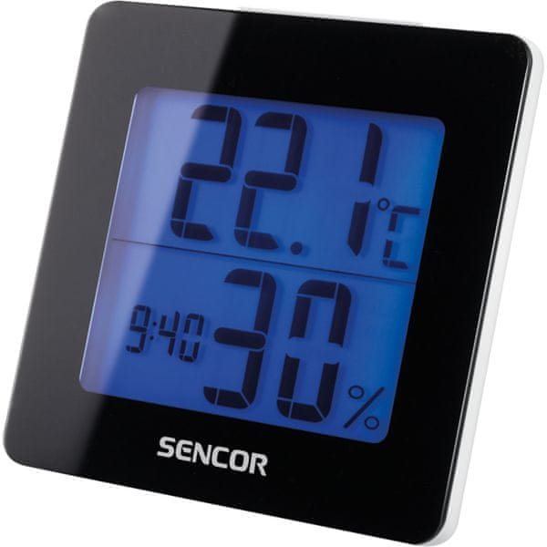 Sencor Teploměr s hodinami SWS 1500 B
