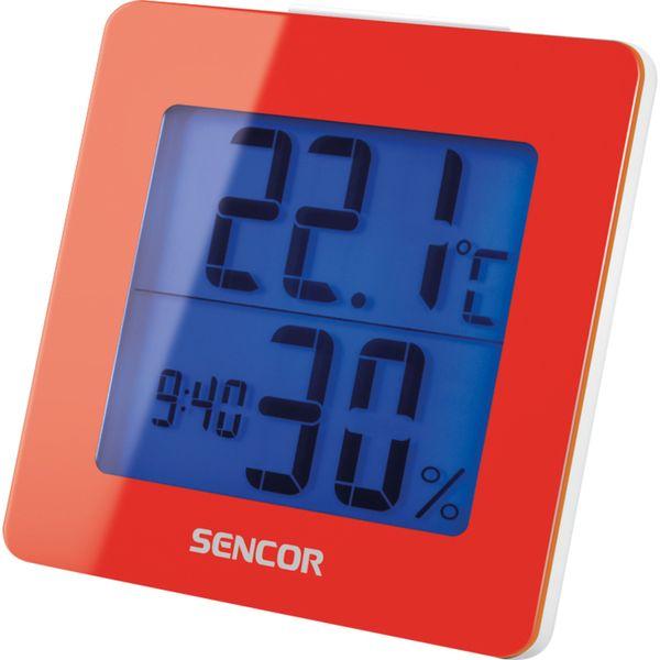 Sencor Teploměr s hodinami SWS 1500 RD