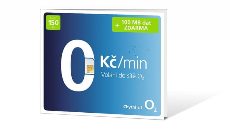 O2 Předplacená karta s voláním ZDARMA + 100 MB dat navíc!