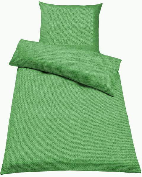 Jahu Ložní povlečení Guru Uni zelená