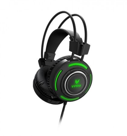 VPRO VH600 7.1 Headset, czarne