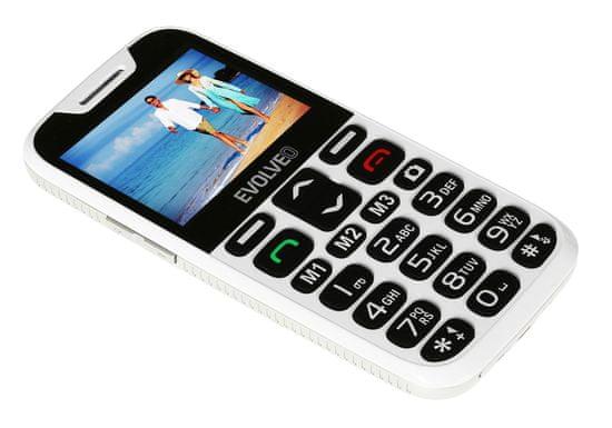 Evolveo EasyPhone XD, černý, s nabíjecím stojánkem, bílý