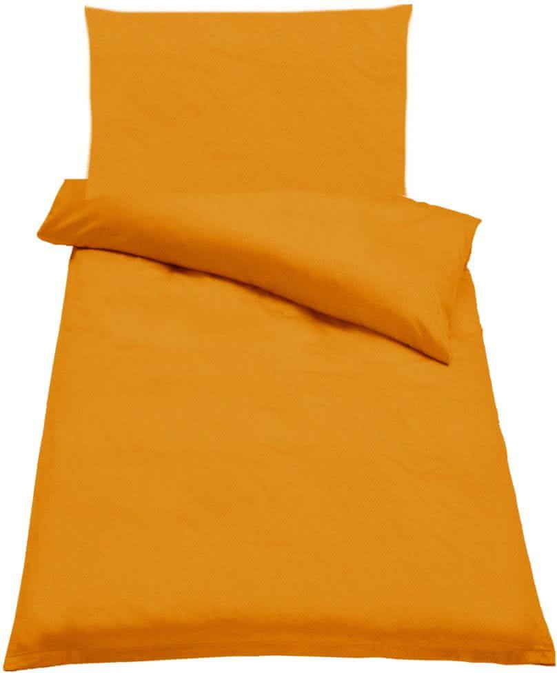 Jahu Ložní povlečení Guru Uni oranžová