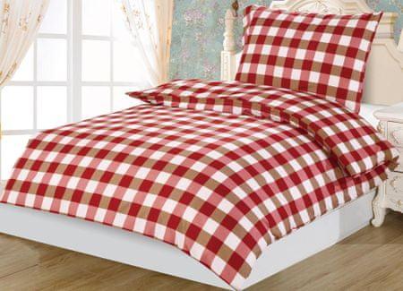 Jahu posteljnina Dallas kocke, rdeča