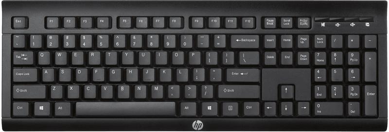 HP K2500 bezdrátová klávesnice, černá (E5E78AA)