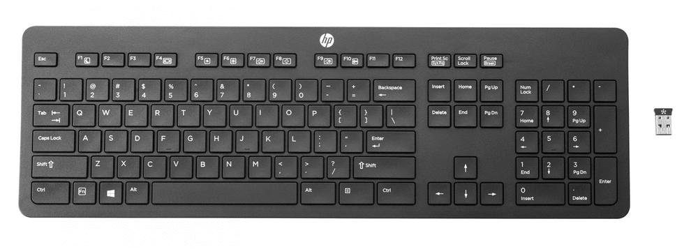 HP Slim bezdrátová klávesnice, černá (T6U20AA)