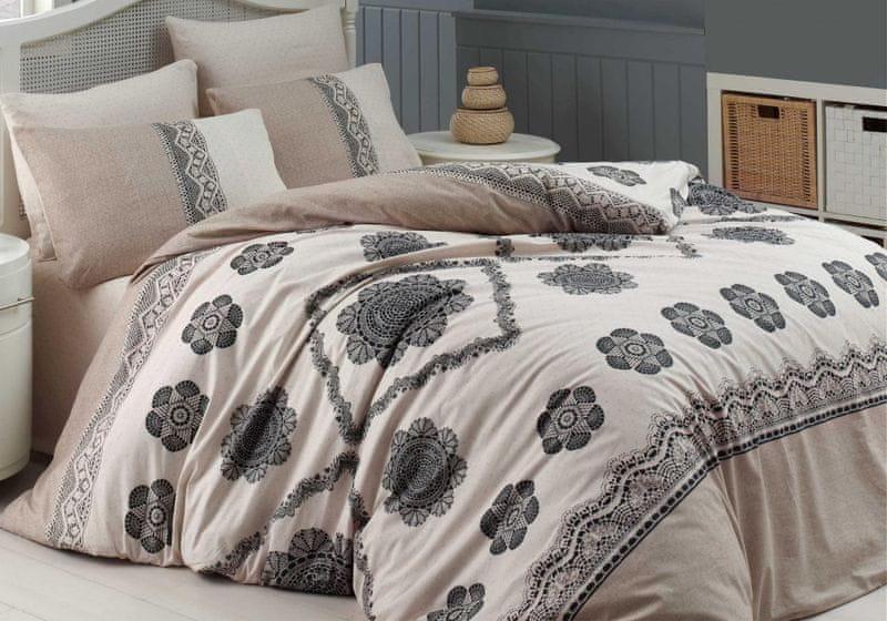 Homeville Povlečení bavlna Cotton lace se dvěma povlaky na polštář 200x220 / 70x90 + 70x90
