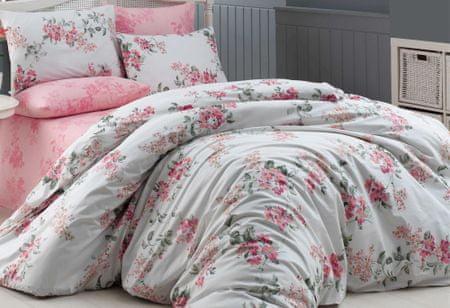 Homeville Povlečení bavlna Monica se dvěma povlaky na polštář 140x200 / 70x90 + 50x70 bela
