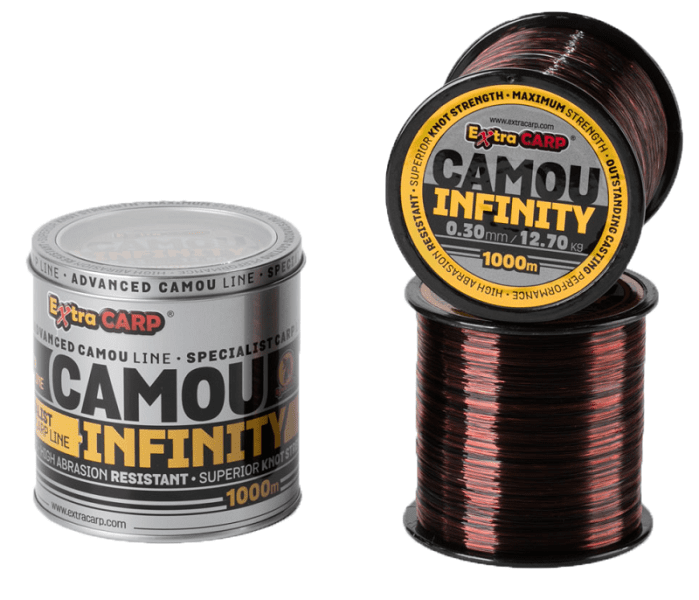 Extra Carp Vlasec Infinity Camou 1000 m 0,28 mm, 10,9 kg