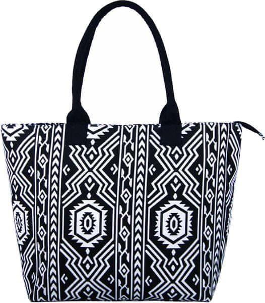 REAbags Dámská taška JAZZI 3157, černá/bílá