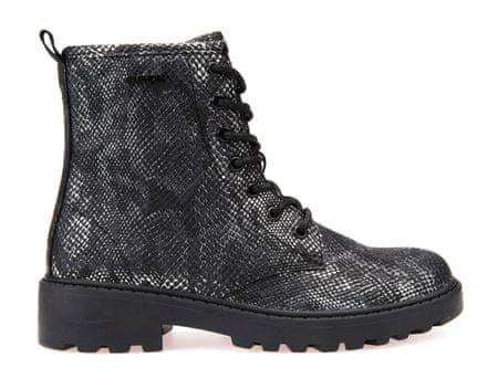 Geox dívčí kotníčková obuv Casey 39 černá